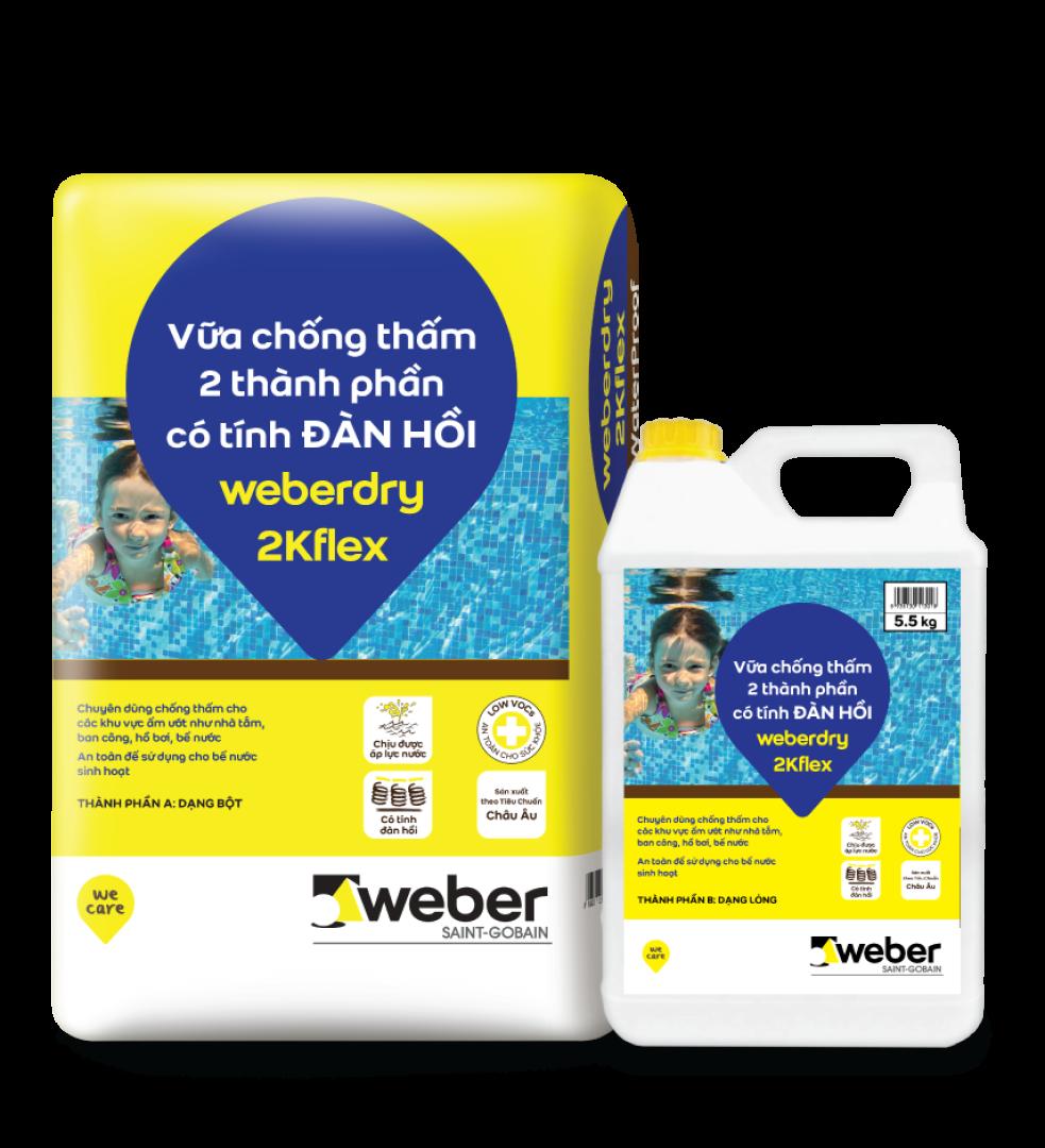 keo chống thấm weberdry 2Kflex