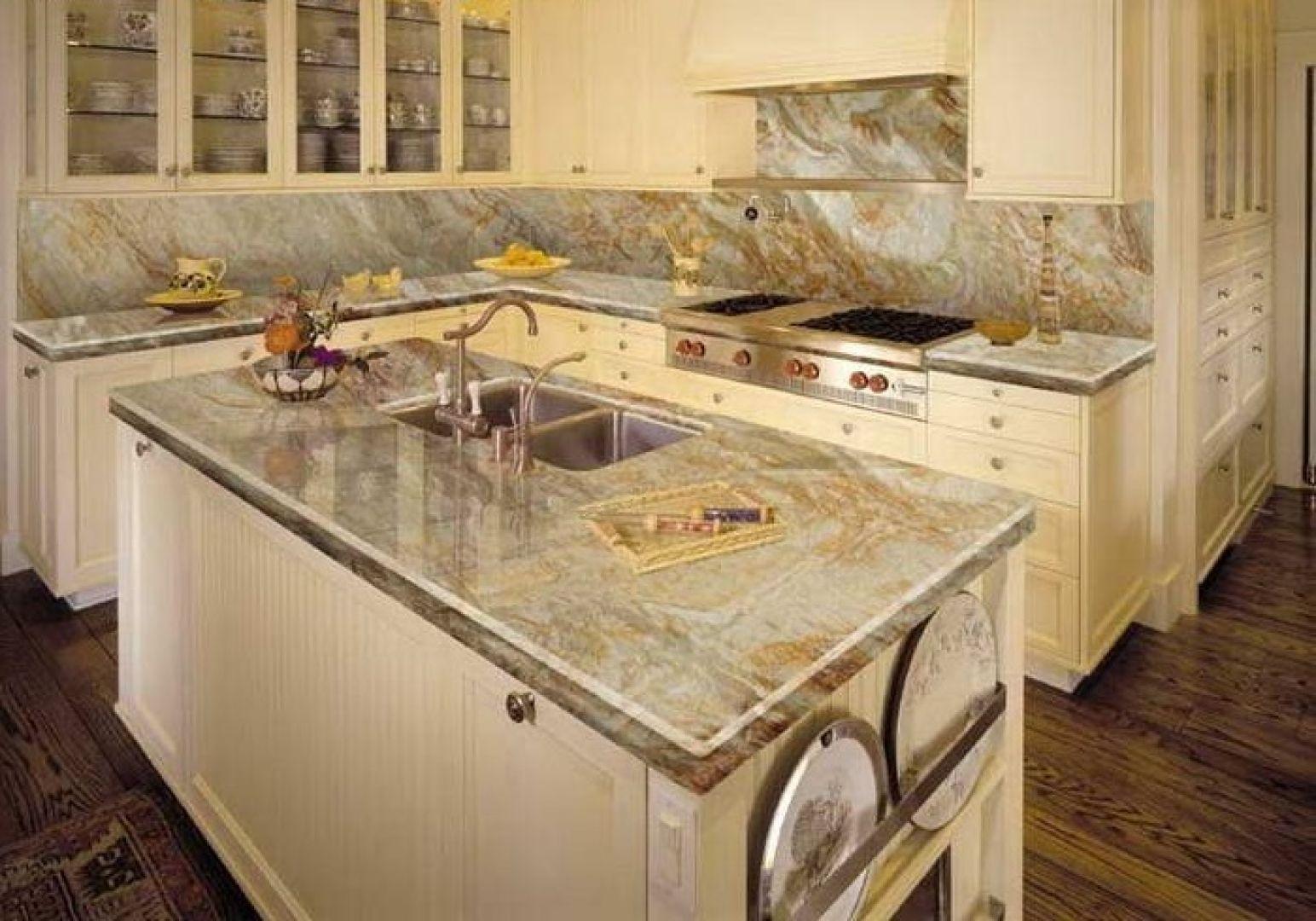 gạch ốp tường bếp - đá marble