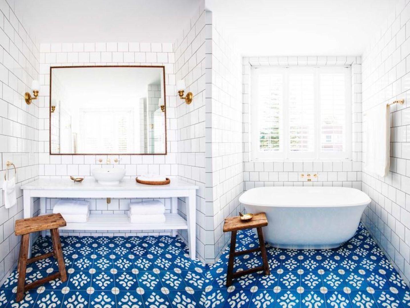 Gạch lát nền nhà đẹp - gạch bông cho nhà tắm