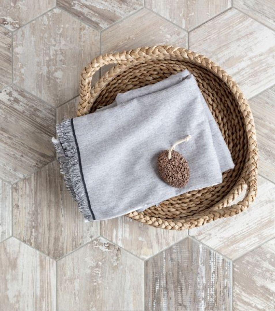 Gạch giả gỗ mosaic sáng tạo, độc đáo